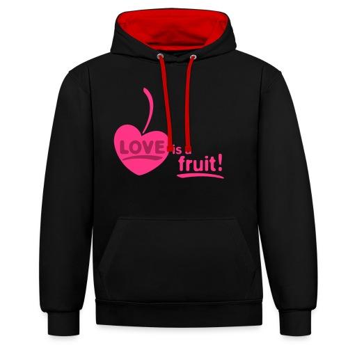 love_is_a_fruit_2c_225x225 - Kontrast-Hoodie