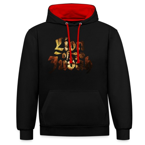 Lion of Judah - Rastafari Paw - Kontrast-Hoodie