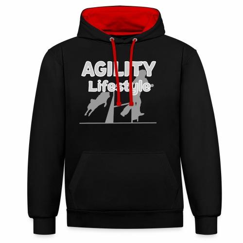 Agility Dogagility Hundesport Hundetraining - Kontrast-Hoodie