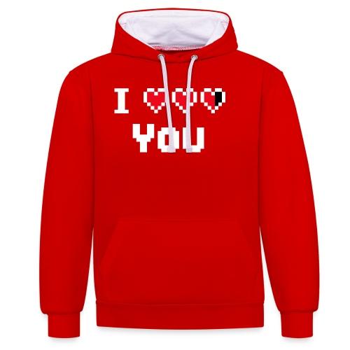 I pixelhearts you - Contrast hoodie
