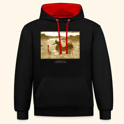 Geek T Shirt Excalibur 2.0 - Kontrast-Hoodie