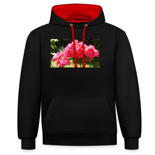 floral - Contrast Colour Hoodie