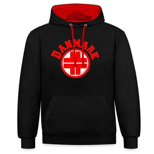 Denmark - Contrast Colour Hoodie