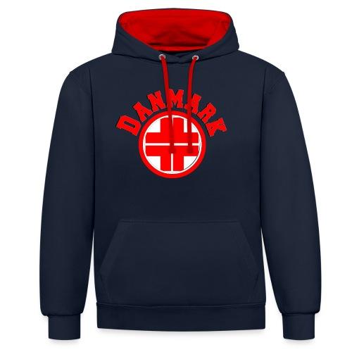 Denmark - Contrast Colour Hoodie