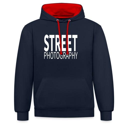 Street Photography T Shirt - Felpa con cappuccio bicromatica