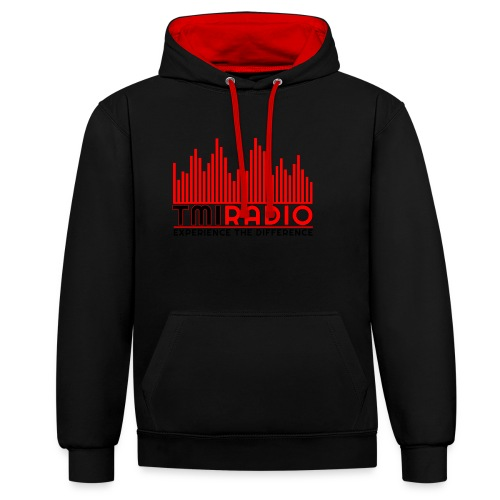 NEW TMI LOGO RED AND BLACK 2000 - Contrast Colour Hoodie