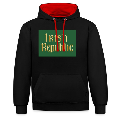 Original Irish Republic Flag - Contrast Colour Hoodie
