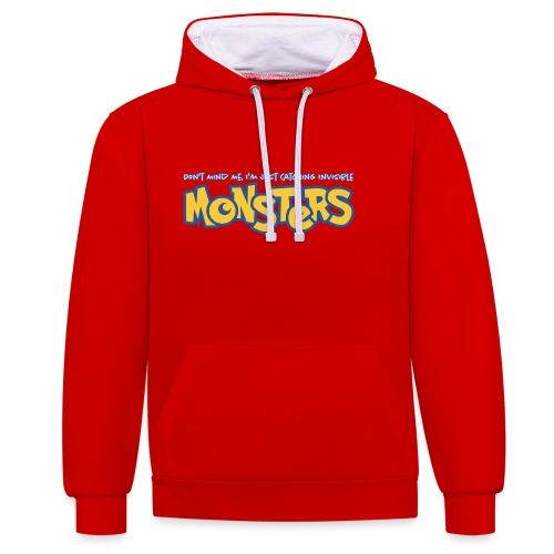 Monsters - Contrast Colour Hoodie