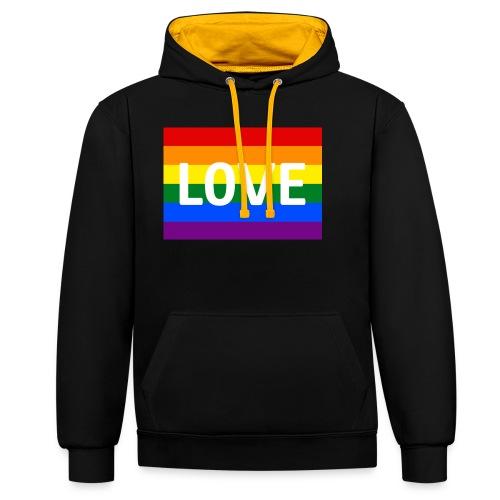 LOVE BELT BAG - Kontrast-hættetrøje