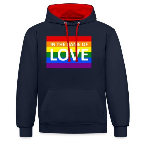 IN THE NAME OF LOVE RETRO T-SHIRT - Kontrast-hættetrøje