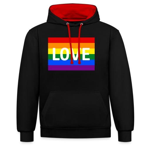 LOVE SHIRT - Kontrast-hættetrøje