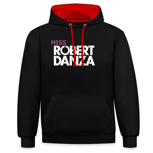 cap_logo_roze_miss_wit_copy - Contrast hoodie