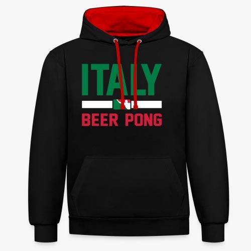 Italy Beer Pong - Kontrast-Hoodie