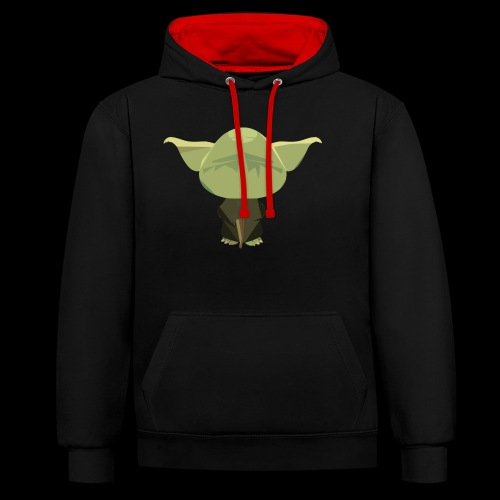 Old Master Yoda - Contrast Colour Hoodie