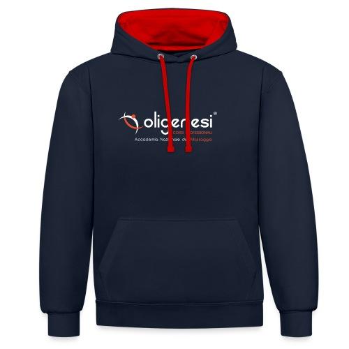 Oligenesi: Corsi di Massaggio - Felpa con cappuccio bicromatica