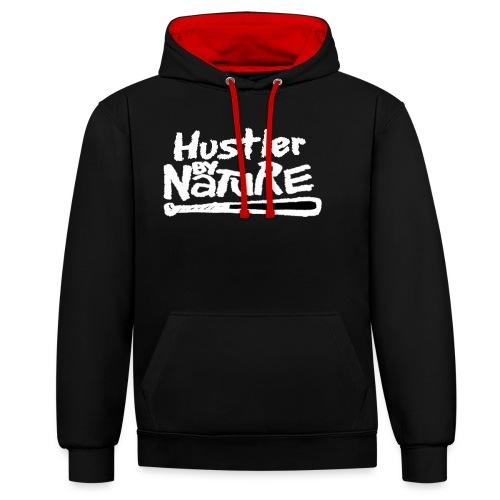Idée cadeau - Hustler By Nature - Sweat-shirt contraste