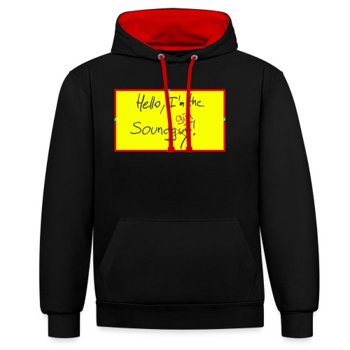 hello, I am the sound girl - yellow sign - Contrast Colour Hoodie