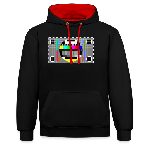 TV Test Screen - Contrast Colour Hoodie