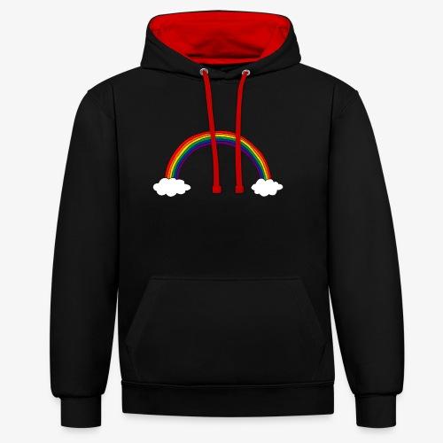 Regenbogen - Kontrast-Hoodie