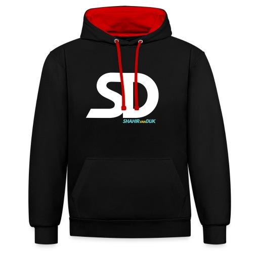 SD T-SHIRT NAVY - Contrast hoodie