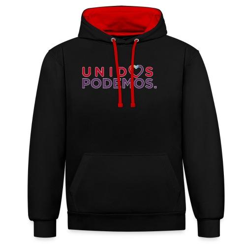 Taza Unidos Podemos 2016 Blanca - Sudadera con capucha en contraste