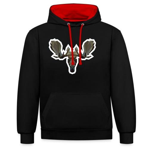 Low Poly Moosehead - Contrast hoodie