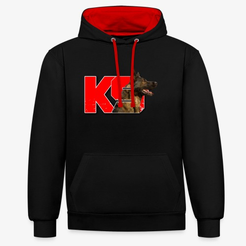 malinois k-9 - Sweat-shirt contraste