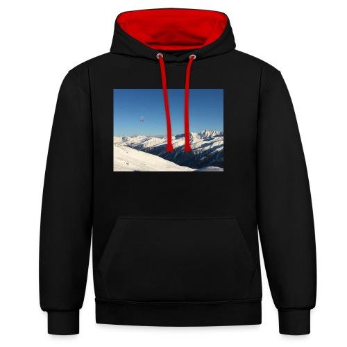 bergen - Contrast hoodie