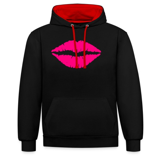 Kiss - Kontrast-Hoodie