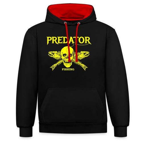 Predator fishing yellow - Kontrast-Hoodie