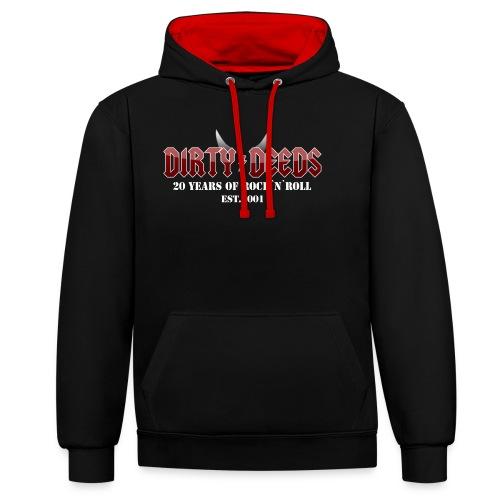 Dirty Deeds 20 Anniversary Druck f dunkel - Kontrast-Hoodie