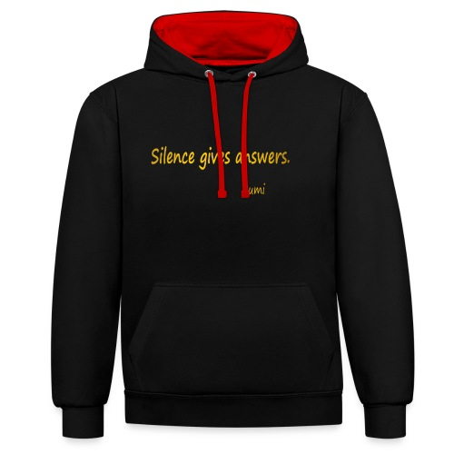 Silence - Contrast Colour Hoodie