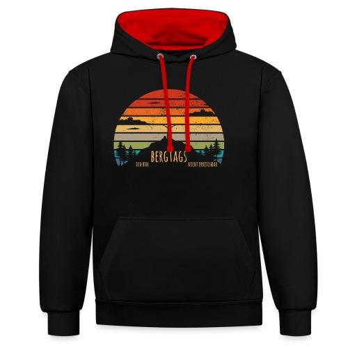 lustige Wanderer Sprüche Shirt Geschenk Retro - Kontrast-Hoodie