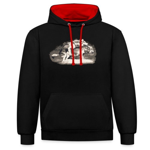 Wolf Loup Lupo Lobo - Contrast Colour Hoodie