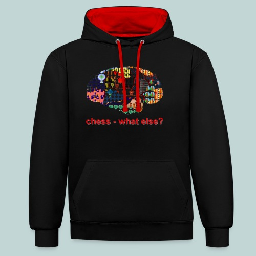 chess_what_else - Kontrast-Hoodie