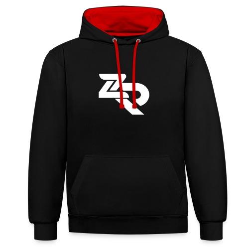 ZR Hoodie - Kontrast-hættetrøje