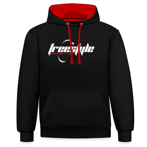 Freestyle - Powerlooping, baby! - Contrast Colour Hoodie