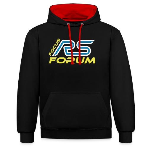 logo focus rs forum shirt cmyk - Kontrast-Hoodie