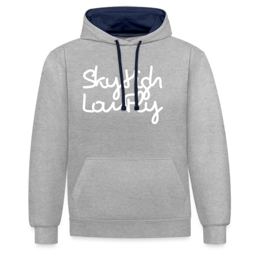 SkyHighLowFly - Men's Sweater - White - Contrast Colour Hoodie