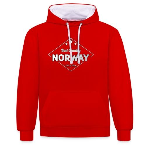 NORWAY - Contrast Colour Hoodie