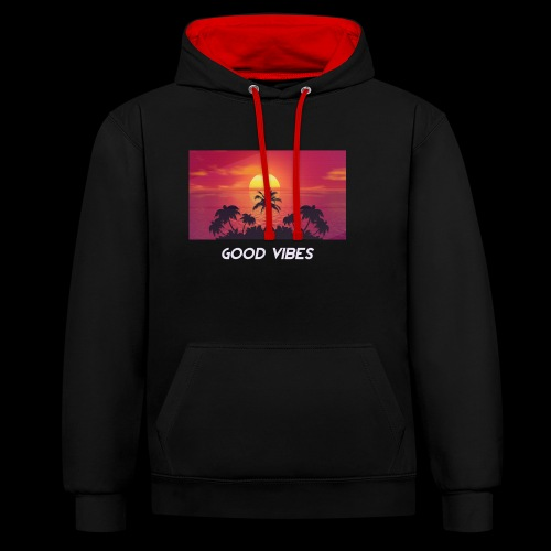 KING 𝘎𝘖𝘖𝘋 𝘝𝘐𝘉𝘌𝘚 - Contrast Colour Hoodie
