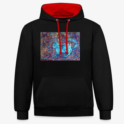 Kotek - Bluza z kapturem z kontrastowymi elementami