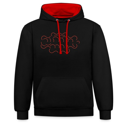 wtg stiched 2 - Contrast Colour Hoodie