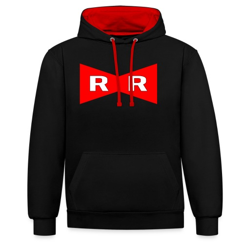 Red ribbon - Contrast Colour Hoodie