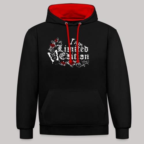 simply wild limited edition on black - Kontrast-Hoodie