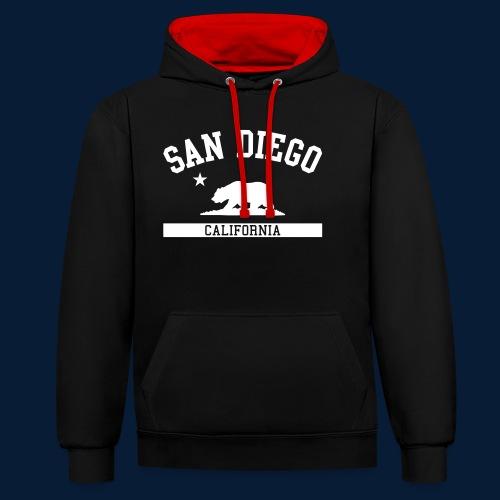 San Diego - Kontrast-Hoodie