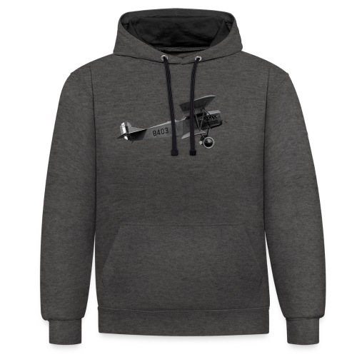 Paperplane - Contrast Colour Hoodie
