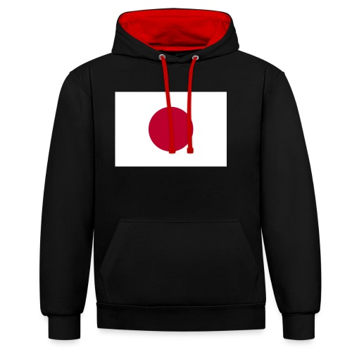 Small Japanese flag - Contrast Colour Hoodie