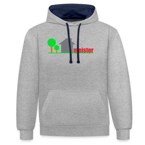 Hausmeister - Kontrast-Hoodie