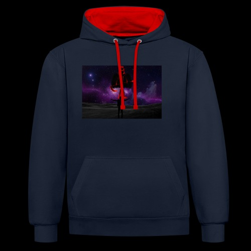 Praise The Dark One - Contrast Colour Hoodie